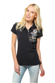 SSI T-SHIRT Lady with Collar Deep Blue