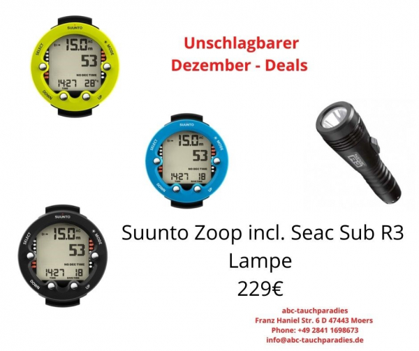 Angebot Tauchcomputer ZOOP incl. Seac Sub Lampe R 3